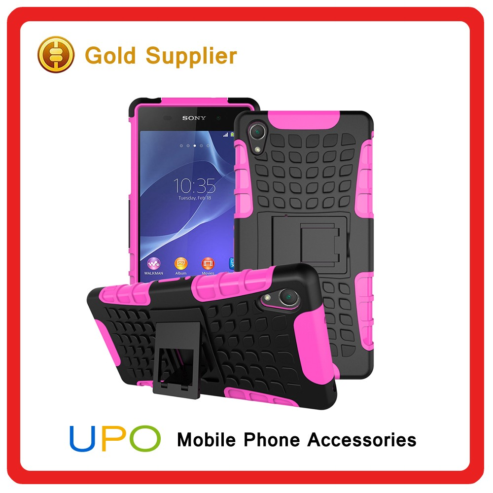 [UPO] 2 in 1 Shockproof Combo Armor Hybrid Cell Phone Case for Sony Xperia Z2