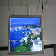 led window display Double Sides Slim LED Light Box hanging from ceiling snap frame light box