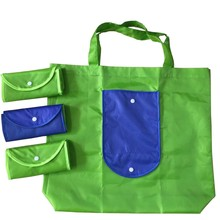 Printing acceptable Nylon Polyester foldable shopping bags