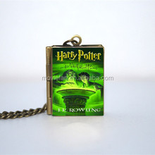 HP and The Half Blood Prince Book Locket Necklace keyring silver & BRONZE tone