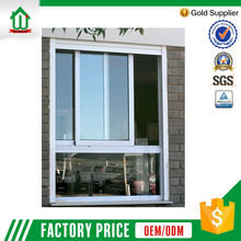 Large aluminum double tempered glass window for house