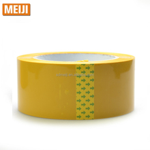 waterproof yellowish solvent based acrylic yellow bopp tape