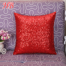 Factory manufacture wholesale decorative mermaid sequin pillow covers
