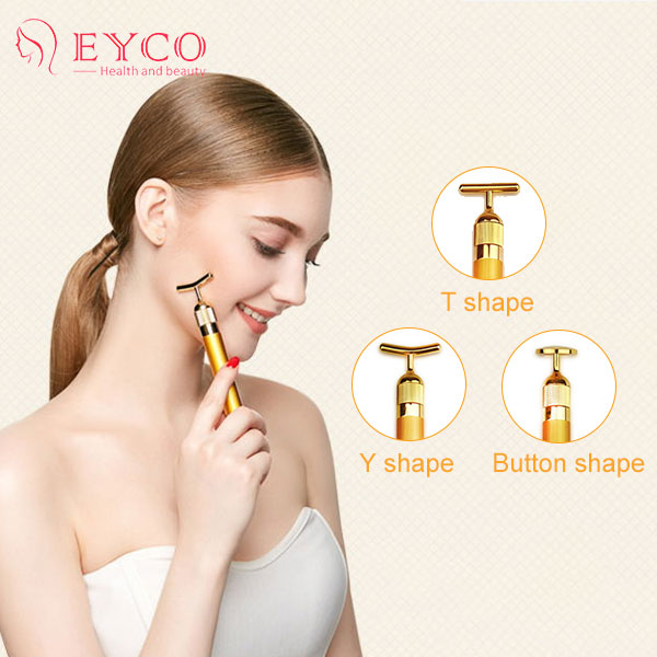HOT SELL 24k Gold beauty supply products Pated Facial Massager Beauty Bar Import tool