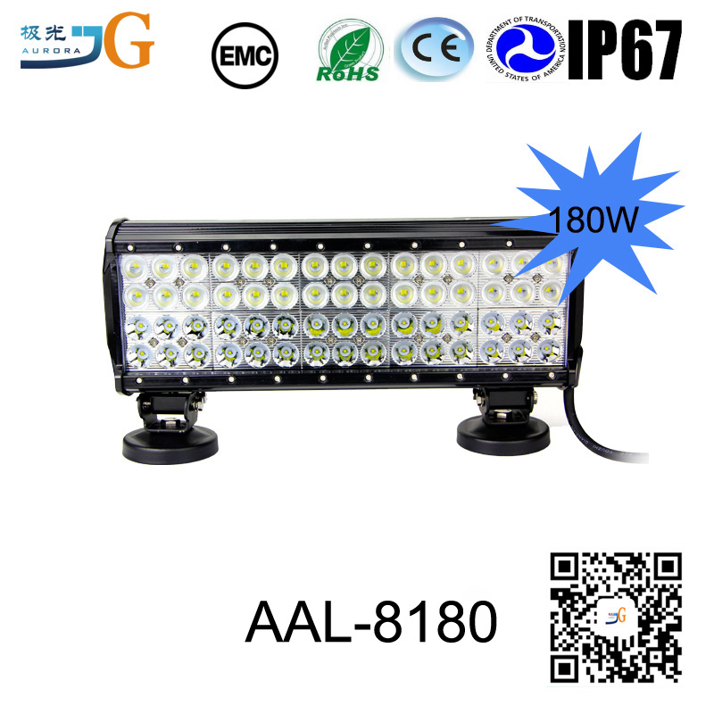 Car Parts 15 Inch 180W 4X4 Led Car Light Curved Led Light Bar Offroad Bent Auto Led Light