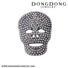 Top sale special design cool wemen skull head pave zircon ring