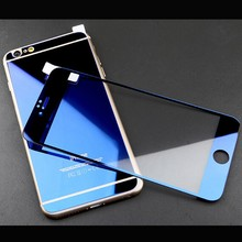 Electroplanting MIRROR EFFECT FRONT BACK Colored Tempered Glass Screen Protector for iPhone 6 6 Plus