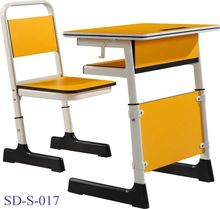 SD-S-017 Iron Best Quality Cheap Classroom Combo School Desk And Chair Set For Students