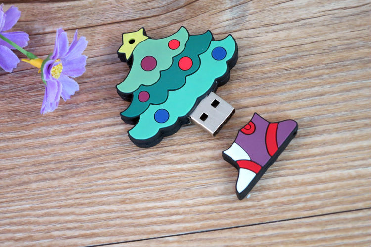 shenzhen usb flash drives 500g,custom PVC christmas tree usb flash drive 512gb,new year usb flash drive wholesale