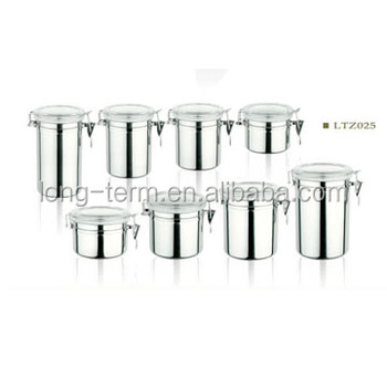 LTZ025 4PCS Stainless Steel Canister