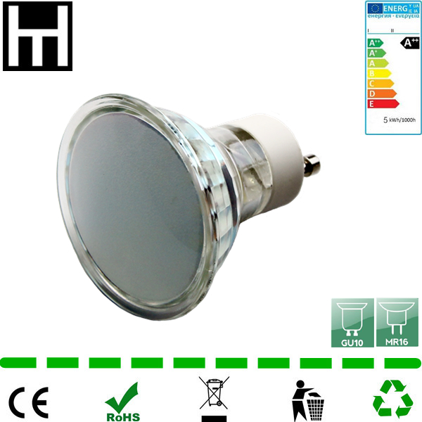50W halogen replacement 120degree 5W glass smd gu10 led for GU10 ceiling fixture