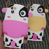 Hot new products for 2016 lovely 3d cow design silicone phone case for ihpone 5/ 5s / 6/ 6s