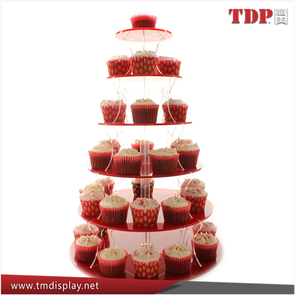 custom 4 5 6 7 tiers acrylic eiffel tower cupcake stand for wedding party