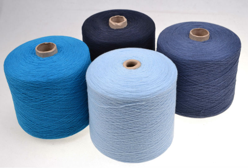 light gray recycled mongolian 100% cashmere yarn