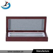 Supply glossy finish lacquer wooden pen packaging box