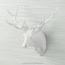 Resin wall mounted 3D artificial animal deer head