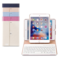 wholesale free sample golden sand bluetooth keyboard leather keyboard case for ipad