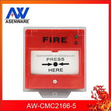 Asenware 2 Wire Fire Alarm Conventional Manual Call Point / Fire Alarm Equipment Supplier