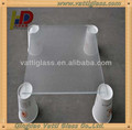 Hot sell ultra clear acid etched tempered glass for blinds /shower bath partition