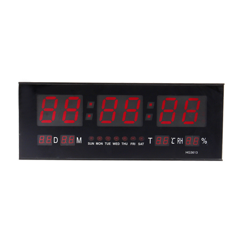 Cheap led calendar wall clock find led calendar wall clock deals ac100v 240v led digital wall calendar alarm clock red amipublicfo Choice Image