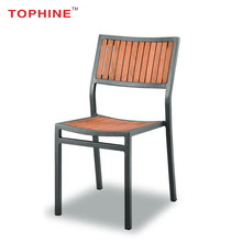 TOPHINE Outdoor Furniture Modern High Back Solid Teak Wood Design Dining Room Chair