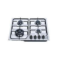 Indoor Auto ignition 4 burner enamel support gas stove in dubai