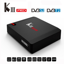 k3 pro dvb smart tv box android 4k receiver S912 Android 6.0 octa core kiii dvb smart tv box