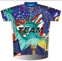Men Cycling Wear , Costomized Bicycle Clothes Design Your Own Cycling Jersey USA Statue of Liberty Flag Eagles hot sexi photo