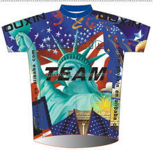 Hombres ciclismo desgaste, Bicycle clothes costomized diseño su propio ciclo jersey eagles ee. uu. estatua de la libertad de la bandera caliente sexi photo