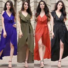 G00260 Sexy Casual Ladies Girls Long Maxi Dresses For Women Elegant Frocks For Adults