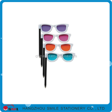 hot sales multi-function sunglasses plastic ball pen with client logo