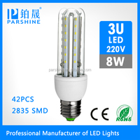 Parshine led corn light 3U 4U E27 8W led corn light bulb
