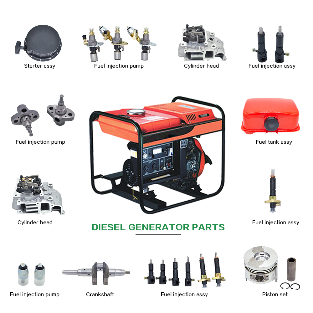 Customizable different types 186F 178F gas petrol diesel engine parts and function