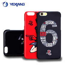 free sample custom printing 3D sublimation phone case for iPhone 6 compatible brand plastic back cover