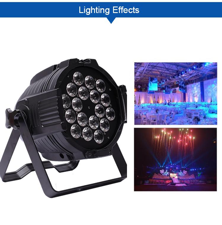 A-6315 18*18W LED PAR RGBWA+UV 18pcs led par indoor 6IN1