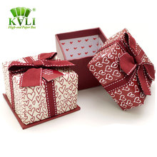 Different Types Customized Bow Tie Cube Storage Box Packaging Cardboard Gift Boxes With Lid
