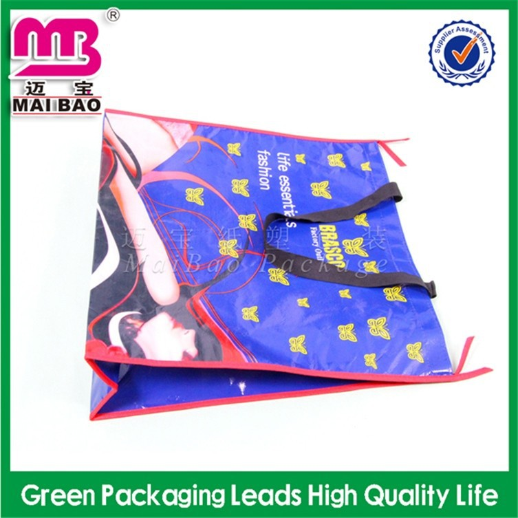professional custom service reusable folding rose shopping bag