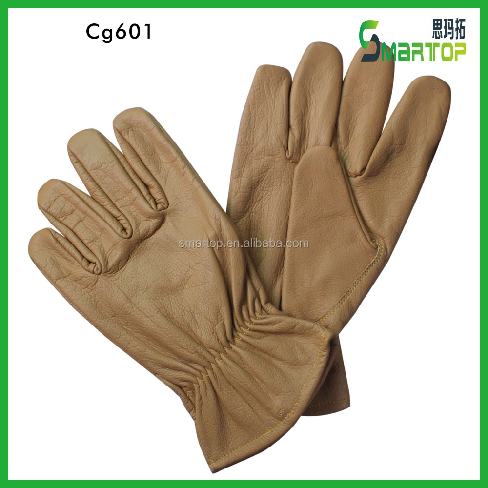 Elegant and delicate cow grain all leather cheap leather gloves