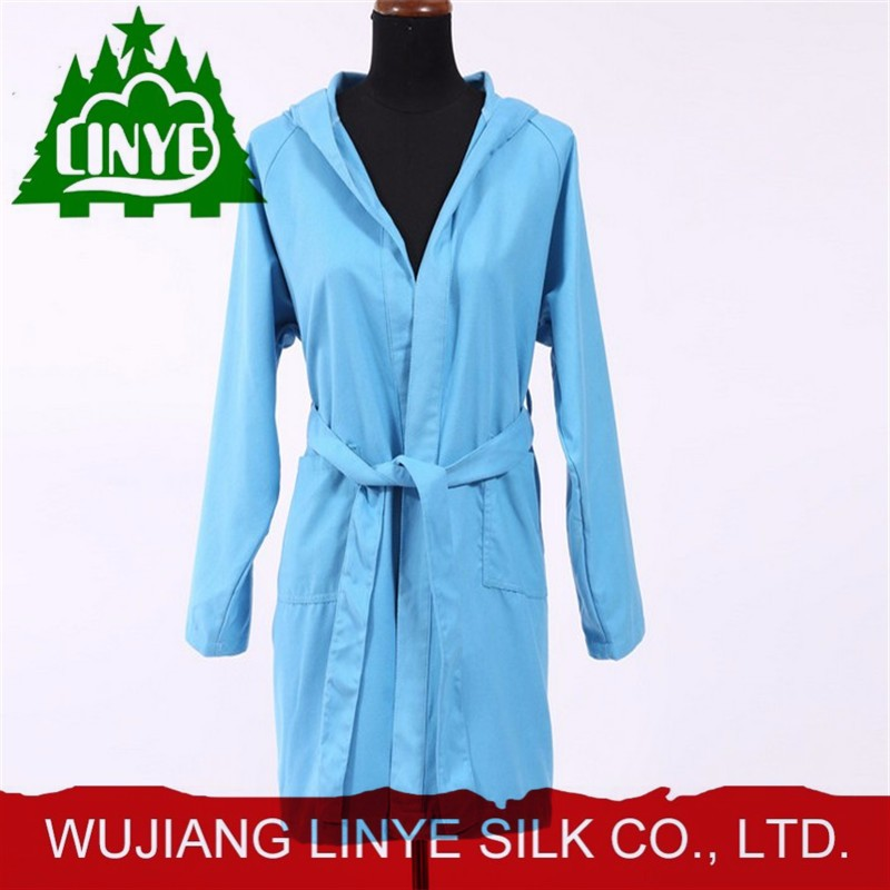microfiber fabric one-piece bathrobe, velvet bath gown