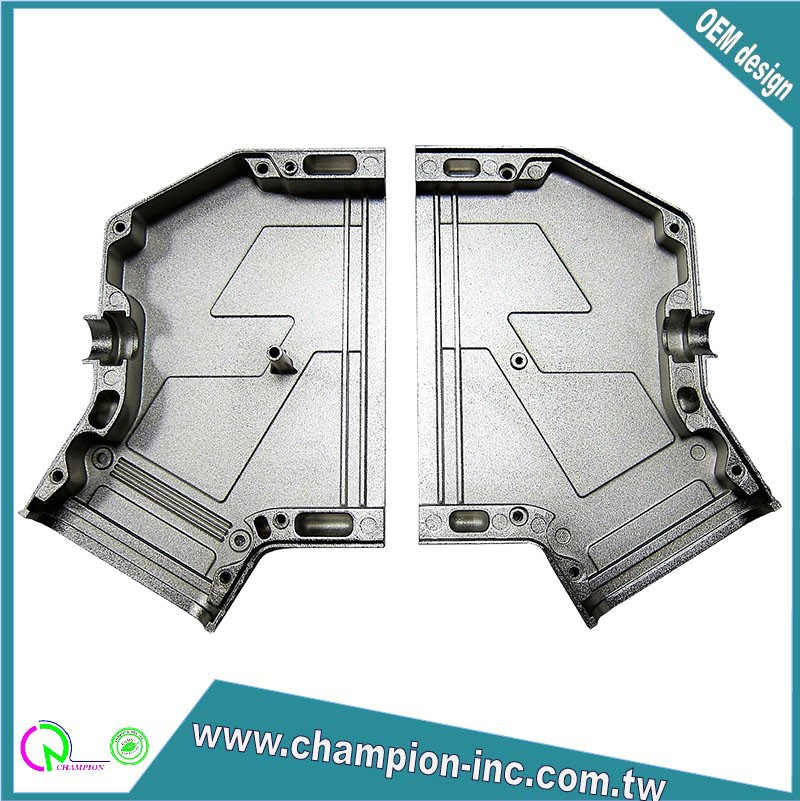 custom service IO back shell aluminum alloy die casting products