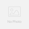 Italian Wedding V-shaped clear purple glass vase with resin flower decoration