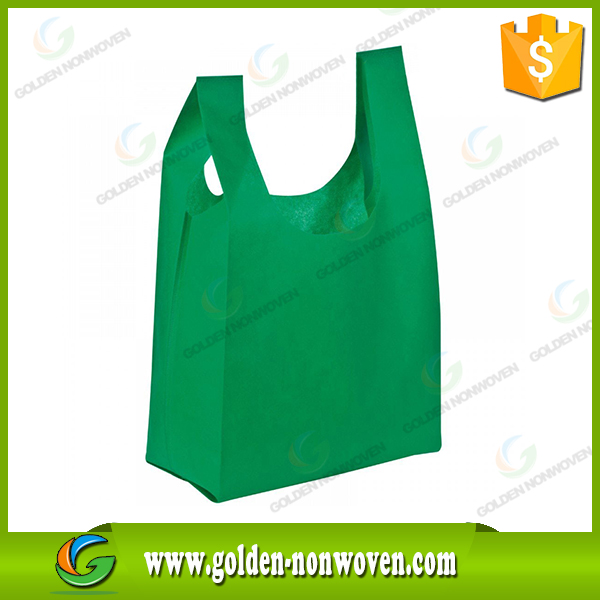 t-shirt nonwoven bag/Customize PP non woven tnt bags/100% Environmental Supermarket Nonwoven T-Shirt Shopping Bag