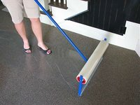 Adhesive carpet prective film for surface protection