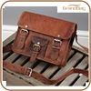 2016 new high quality handbags genuine vegetable leather satchel shoulder bag with front pocket for unisex wholesale