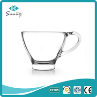 130ml drinkware whisky wine glass tea cup with handle