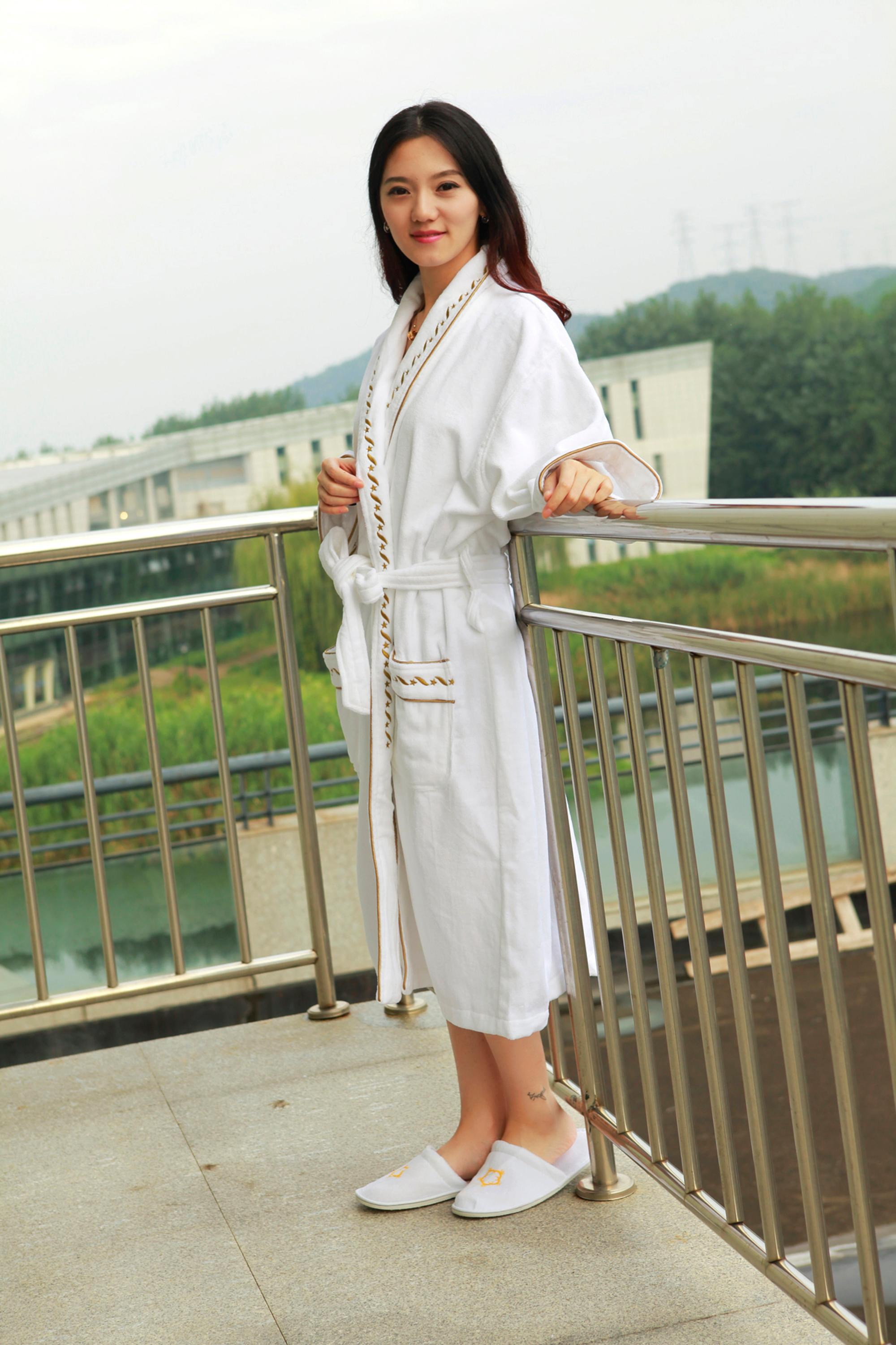 100% cotton customized travel size spa kimono waffle hotel bathrobes
