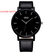 Custom Watch Black Face Original Design Your Own Watch Japan Movement Personalized Brand Watch Men