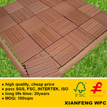 Cheapest Price 300x300mm WPC Board Easy Install Wood Plastic Composite Decking WPC Tiles