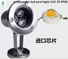 Outdoor stainless steel swimming pool lights RGB underwater led pool light 12v 3w ip68