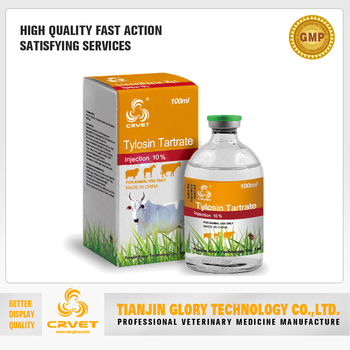Poultry Antibiotics Tylosin Tartrate Injection 20%